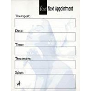 Beauty Appointment Cards A Range