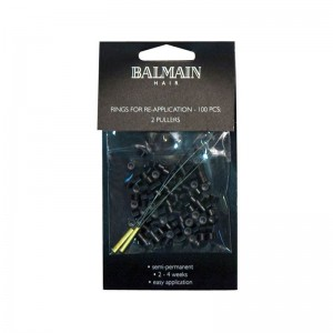 Balmain Soft Rings 100Pk Black