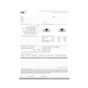 Lash Fx Record Cards 50 Pack