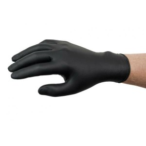 .black Nitrile Gloves - Medium (100)